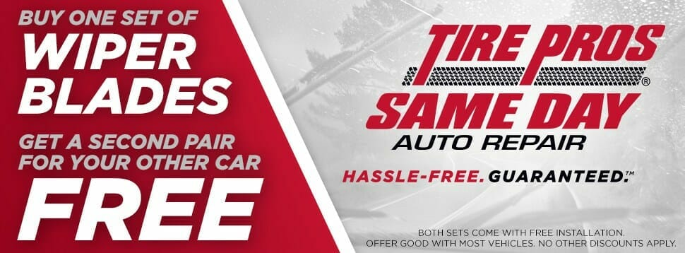 Buy One Set of Wiper Blades, Get a Second Pair Free